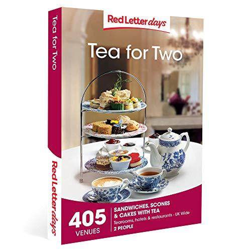 Red Letter Days Tea for Two Gift Voucher - 405 delightful afternoon tea experiences