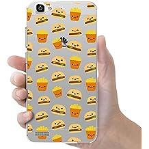Funda carcasa TPU Transparente para Huawei P8 Lite Smart diseño estampado hamburguesas y patatas fritas