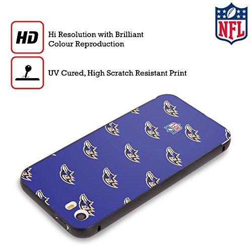 Ufficiale NFL LED 2017/18 Baltimore Ravens Nero Cover Contorno con Bumper in Alluminio per Apple iPhone 5 / 5s / SE Pattern