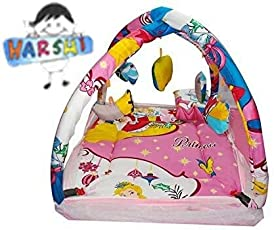 HARSHI Foldable Baby Mattress with Mosquito Net (Pink)