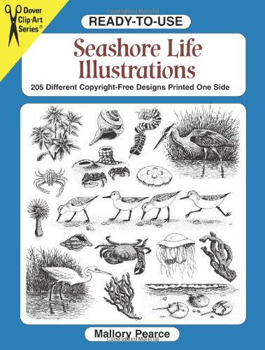 Ready-To-Use Seashore Life Illustrations: 230 Different Copyright-Free Designs Printed One Side (Clip...
