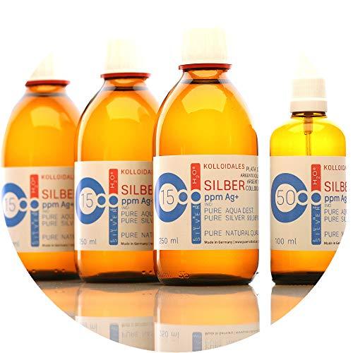 850ml kolloidales Silber (3x 250ml/15ppm) + Spray(100ml/50ppm) Reinheit & Qualität seit 2012 preisvergleich