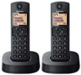Panasonic KX-TGC312EB Digital Cordless Phone with Nuisance Call Blocker - Black, Pack of