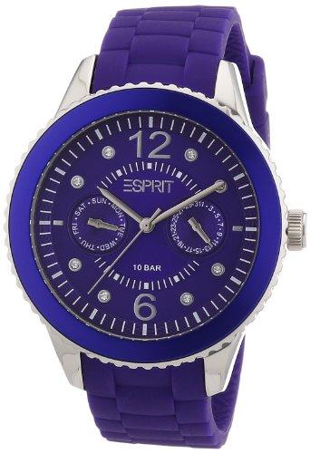 Esprit A.ES105332006 - Reloj analógico de cuarzo para mujer con correa de silicona, color morado