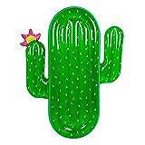 QIANGUANG Riese Aufblasbar Luftmatratze Reitfähig Schwimmreifen Pool-Schwimmer Party Tube mit Schnellventilen Sommer Draussen Floß Dekorationen Spielzeuge  für Erwachsene und Kinder (Kaktus)