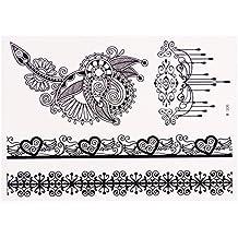 Black Ornament Sheet Nr. 2 | Flash Tattoo | Temporäre Tattoos | Original POSH Tattoo