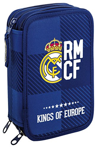 Estuche escolar Plumier Real Madrid