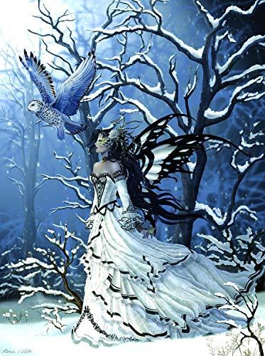 Alldecor Canvas Prints Wandkunst, modernes Wanddeko, Giclée-Druck auf Leinwand, Motiv Fee 20 X 30 IN Queen of Owls - Owl Giclée Print