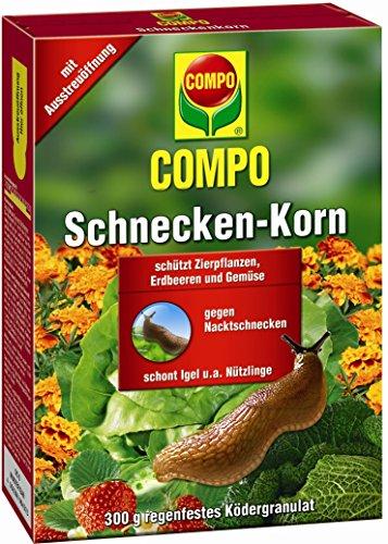 COMPO?Schnecken-Korn, Streugranulat gegen Nacktschnecken zur Anwendung im Freiland und Gewächshaus, 300 g