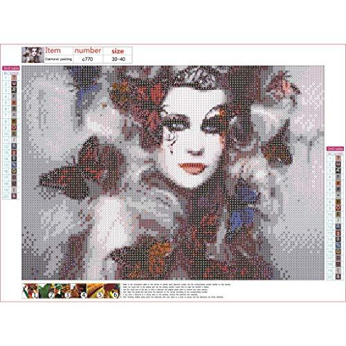 Cuteelf Diamant malerei 5D stickerei malerei clown maske muster dekoration home wand bohrer manuelle DIY entsprechende dekompression spiel manuelle kreuzstich ornament -