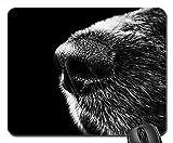Mauspads - Dog Nose Snout M & nbsp; nsterlnder Schwarz Weiß