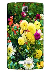 Omnam Flower Printed Back Cover Case For Lenovo A2010