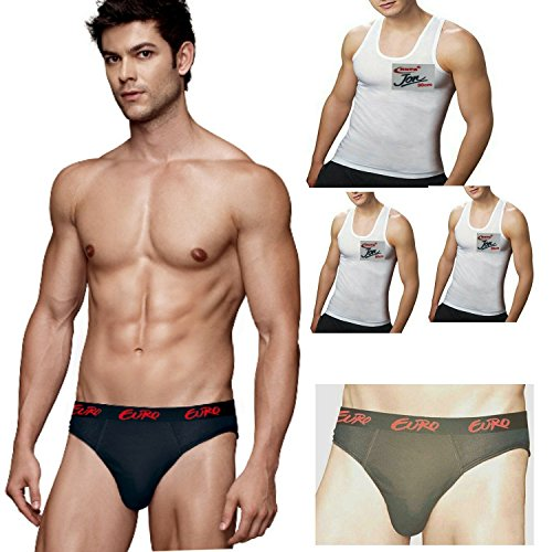 Euro & Rupa Men's Cotton 2 Briefs & 3 vest (Pack of 5)  available at amazon for Rs.335