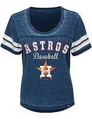"""Houston Astros Mujer Majestic MLB """"Loving el Juego Mezcla de"""" Dual Camisa, MLB, color , tamaño XL"""