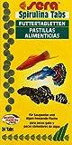 sera 00920 Spirulina Tabs 24 Tabletten - Pflanzenfutter aus Hafttabletten mit hohem Spirulina-Anteil (27%)