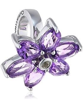 Endless Bead/Charm 925SI Big Amethyst Flower