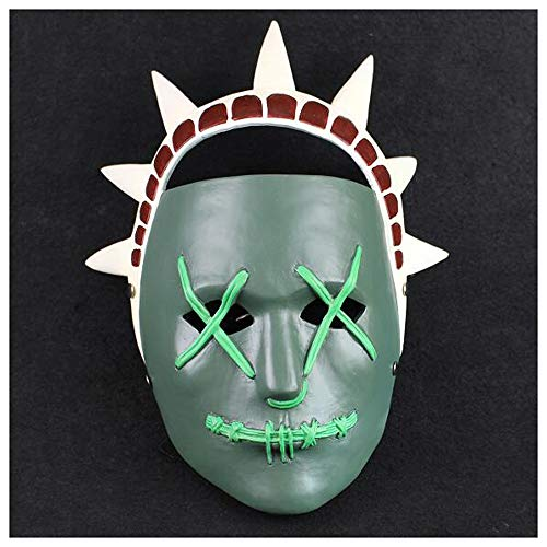 Maske YN Human Clearance Plan 3 Kos Göttin Spiel Horror Grimasse Parodie Halloween Requisiten
