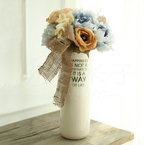 fiori-artificiali-vaso-in-ceramica-bianca-fiori-artificiali-ornamenti-set