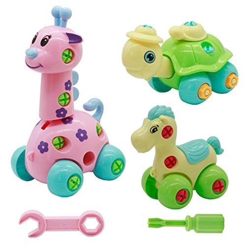 Tre giocattoli tanto divertimento
