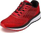 WHITIN Damen Sportschuhe Sneakers Turnschuhe Frauen Laufschuhe Joggingschuhe Walkingschuhe Joggingschuhe Freizeitschuhe Fitness Schuhe Rot Größe 38
