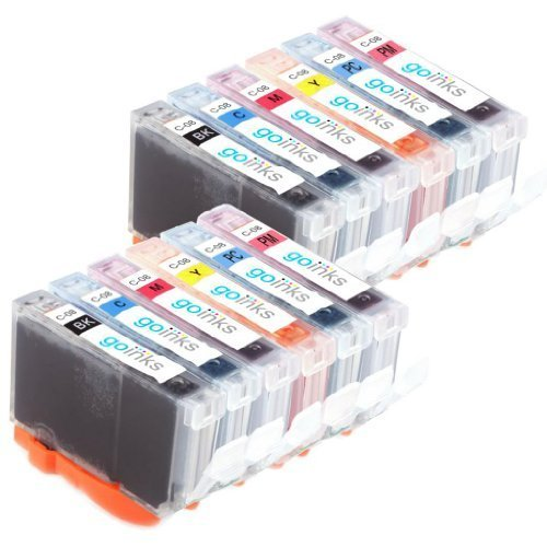Preisvergleich Produktbild 2 Compatible Sets of 6 Canon CLI-8 Chipped Printer Ink Cartridges (12 Inks) - Black / Cyan / Magenta / Yellow / Photo Cyan / Photo Magenta for Canon Pixma iP6600D, iP6700D, MP950, MP960, MP970, Pro 9000, Pro 9000 Mark II