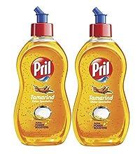 Pril Dishwash Speckles - 225 ml (Tamarind) (Pack of 2)