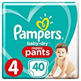 Pampers - Baby Dry Pants - Couches-culottes Taille 4 (8-15 kg) - Pack Géant (x40...