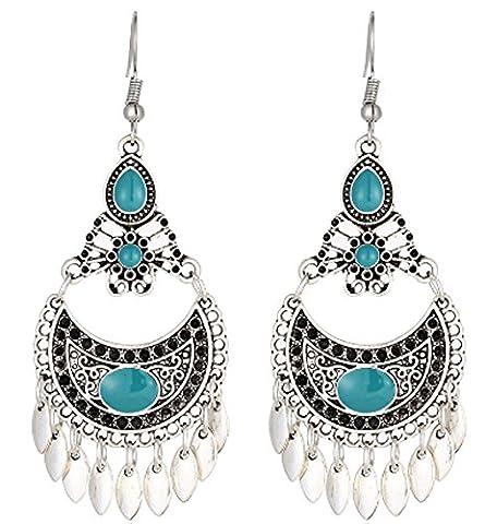 SaySure- Turquoise Tessal Oorbellen Punk Stud Earrings Set