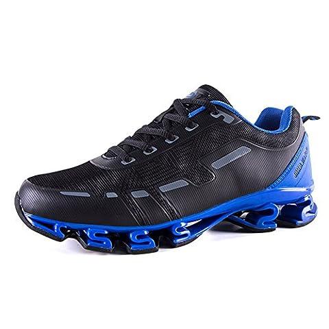 Chaussure de sport homme loisir sneakers ball courir marché camps fashion printemps légère noir bleu 42
