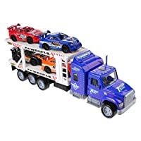 UMKY Car Transporter With 4 Cars Boys Toys For Kids Gift Birthday Present