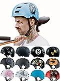 Skullcap® BMX Helm - Skaterhelm - Fahrradhelm - Herren | Damen | Jungs & Kinderhelm Gr. M (55 – 58 cm), Monster Blue NextLevel