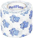 blueqier vendaje de fascitis plantar para perro autoadherente, vendaje de fijación elástica (blanco + azul)