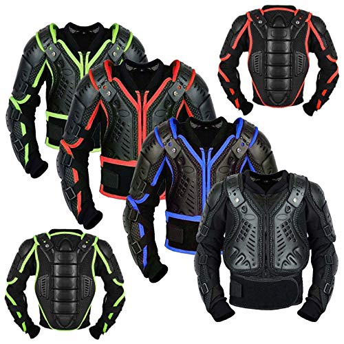 Kinder Körper Rüstung - Motorrad MX Körperschutz - Rüstung kostüm Motorrad Gear Armors Motocross Bikes Schutz CE-geprüfte Jacke - Jahr 10