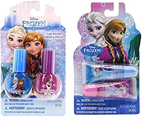 TOWNLEY GIRL Disney Frozen Beauty Bundles for Girls - Pack of 2