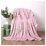 Decken rosa Flanell weiche Flauschige gemütliche Student Schlafapartment Schlafcouch (größe : 180 * 200cm)