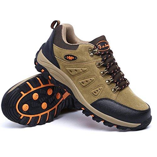TAOFFEN Stivali Hiking Unisex Adulto Casual Scarpe Sportive Women Khaki
