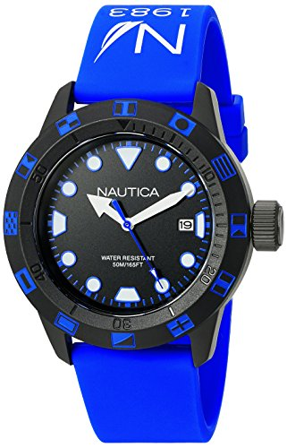 Nautica Unisex NAD10080G NSR 100 FLAG Analog Display Quartz Blue Watch