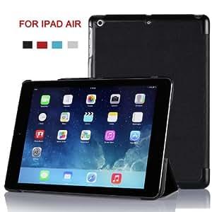 Gambolex Étui Smart Cover Housse pour iPad Air avec support à Angle de visionnage et fonction de mise en veille/de réveil automatique (Noir)