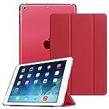 Fintie iPad Air Hülle - Ultradünne Superleicht Schutzhülle mit Transparenter Rückseite Abdeckung Smart Case mit Auto Schlaf/Wach und Standfunktion für Apple iPad Air 2013 Modell, Rot