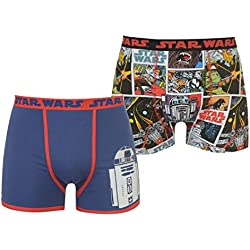 Character - Bóxers - para Hombre Negro Star Wars 2 Pack Boxers Large