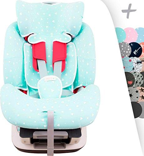 Janabebe Copriseggiolino per chicco Seat Up 0, 1, 2 e Chicco YOUniverse (Mint Sparkles)
