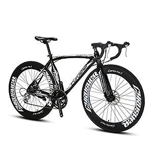 Extrbici XC700Sport Racing Road Bike PRO 700CX700MM Ruota 56cm Leggero Telaio in Lega di Alluminio 14velocità Shimano 2300Shift Gears Uomo Strada Bicicletta Doppio Freni a Disco Meccanici