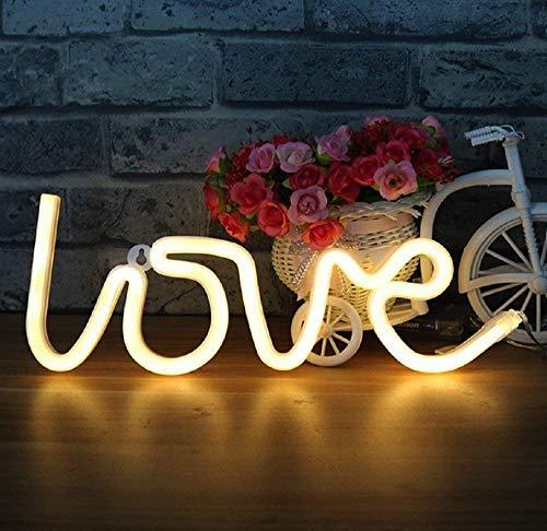 Amor neón Luz neón Luz lámpara de pared Home Decor, batería y Puerto USB lámparas de neón cálido casa blanca carteles luminosas lámparas para Dormitorio, Bares, fiestas, bodas, decoración de navidad