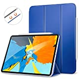 MoKo Hülle für iPad Pro 11 2018, Schlanke Schutzhülle mit Magnetisch Befestigung und Ladung für Stift, Auto Schlaf/Aufwach Funktion Smart Case - Marineblau
