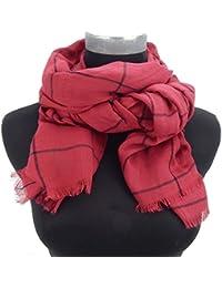 ca74d394f050 FOULARD ÉCHARPE FEMME by Ella Jonte Basic-Style tendance rouge noir agréable  ...