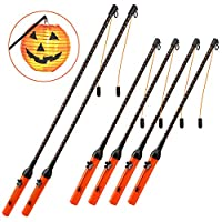 Halloween Lantern Stick, 6-Pack LED Lantern Stick Rod for Halloween, Kids,Parties, Christmas