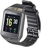 simvalley Mobile Telefon Uhr: Handy-Uhr & Smartwatch mit Kamera, Bluetooth 4.0, für iOS & Android (Kamera Armbanduhren)