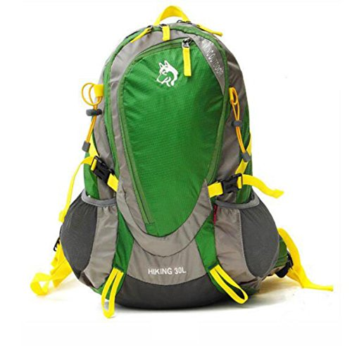 Outdoor Bergsteigen Tasche 30L Nylon Wasserdicht Camping Rucksack Mit Regt Abdeckung Green