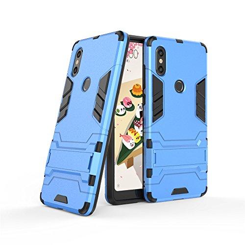Funda Xiaomi Mi Mix 2s, LAGUI Carcasa Viene Con Una Soporte Plegable, Ultrafino Ligera Cubierta, Anti-Arañazos Anti-huella Cubierta Protectora, Robusta Caja Híbrida TPU / PC. azul