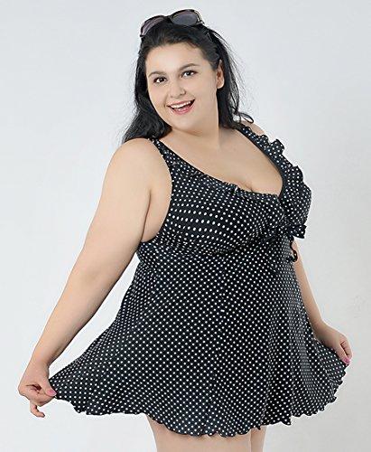 Damen große größen badekleider mit röckchen badekleid Schwarz
